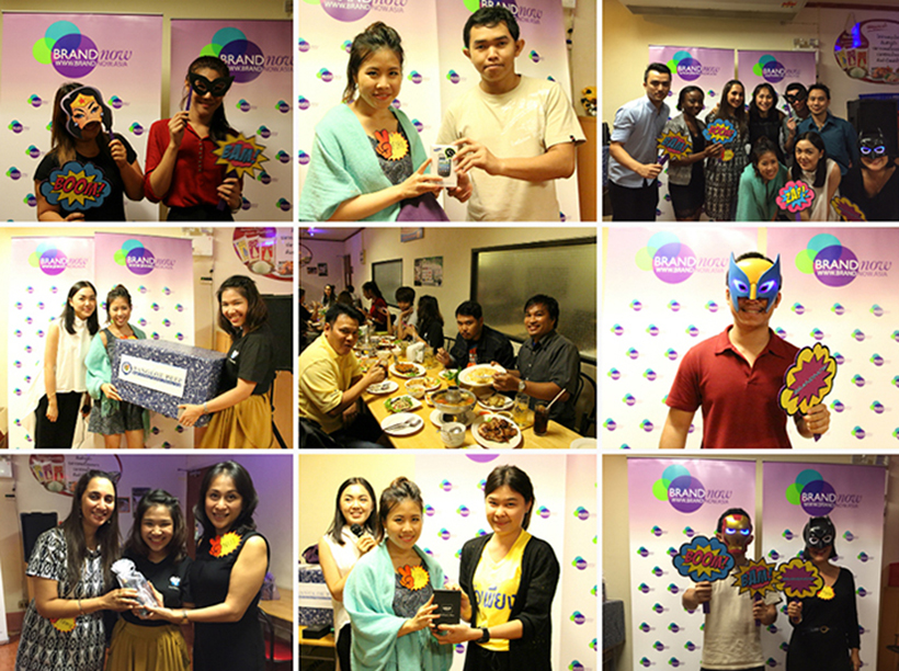 It was an evening of delicious E-sarn food, fun and games at Brand Now's Thank You Party for Our Super Hero Media to show our appreciation to our media friends for their great support! From Brand Now team, we wish you all Happy Holidays!